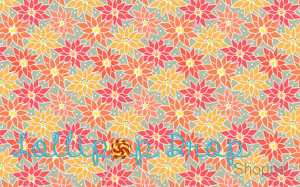 Citrus Flowers - Backdrop Shop