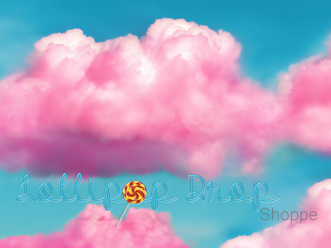 Cotton Candy Clouds - Backdrop Shop