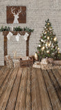 Brick Country Christmas and Country Floor - All in One - Backdrop Shop