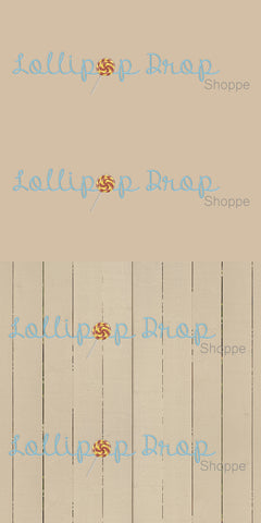 Cream Painted Planks - Solid Cream - Backdrop Shop