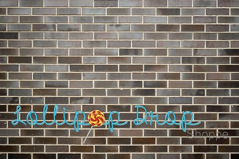 Dark Speckled Brick - Backdrop Shop