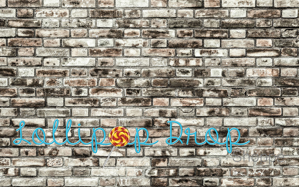 Distressed Grunge Brick Wall - Backdrop Shop