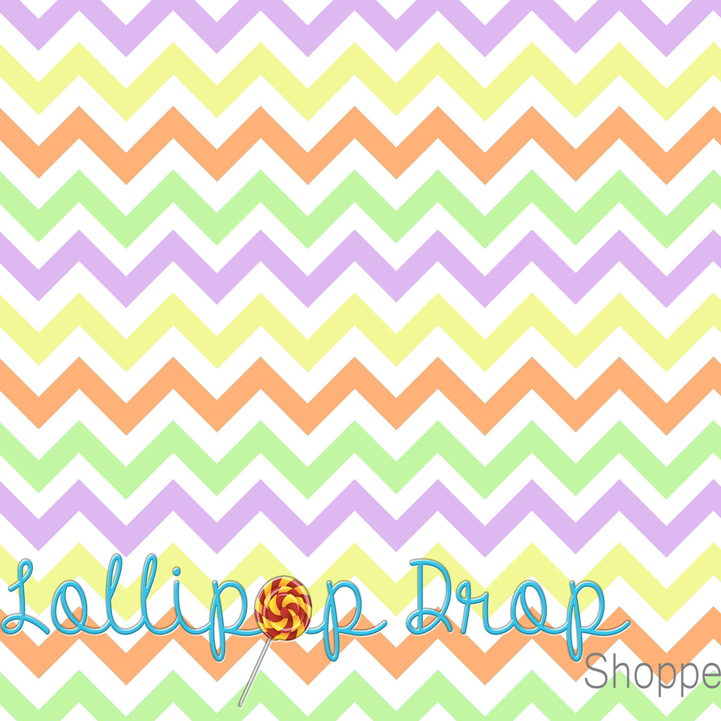Easter Chevron - Backdrop Shop