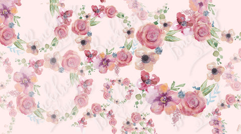 Painted Floral Wreath