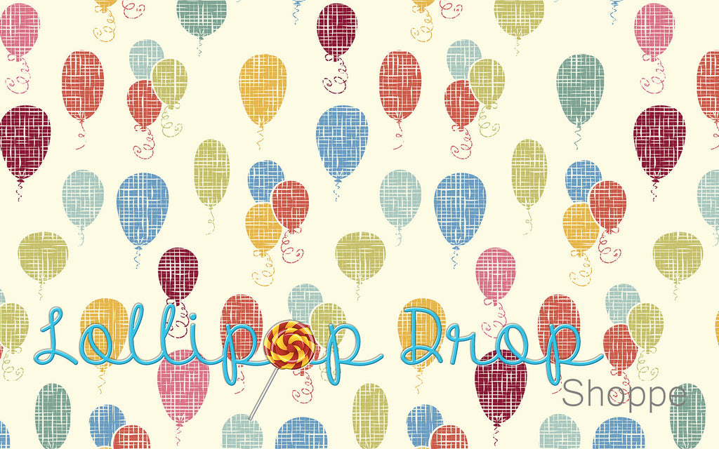 Faded Birthday Balloons - Backdrop Shop