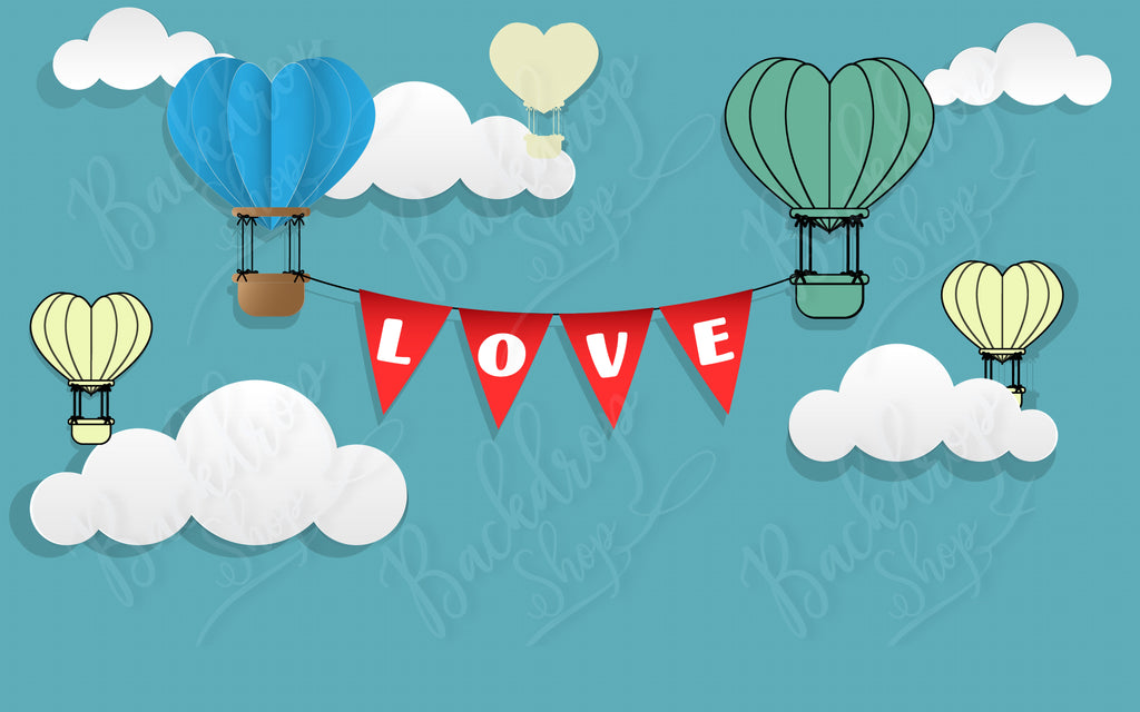 Floating Love Banner - Backdrop Shop