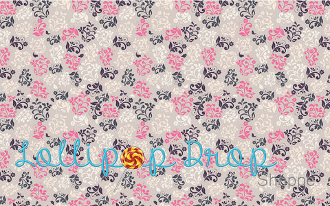 Floral Damask - Backdrop Shop