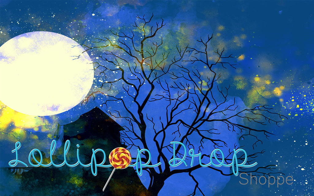 Full Moon Rising - Backdrop Shop
