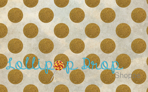 Gold Glitter Dots - Backdrop Shop