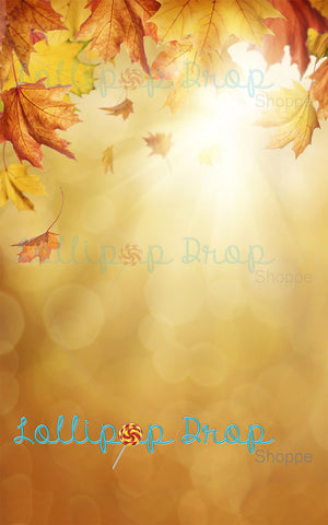 Golden Fall Leaves - Backdrop Shop