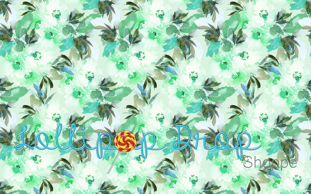 Green Floral - Backdrop Shop
