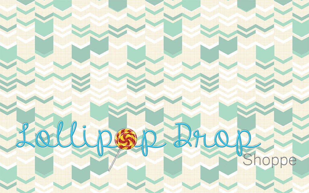 Green Hipster Chevron - Backdrop Shop