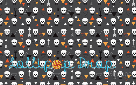 Grey Skulls - Backdrop Shop