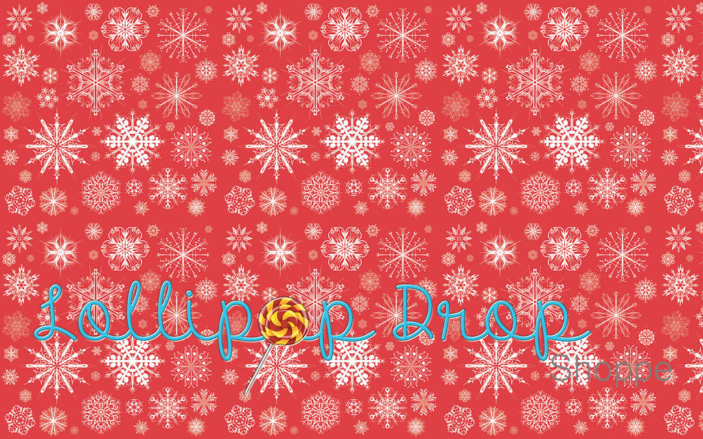 Holiday Snowflakes - Backdrop Shop