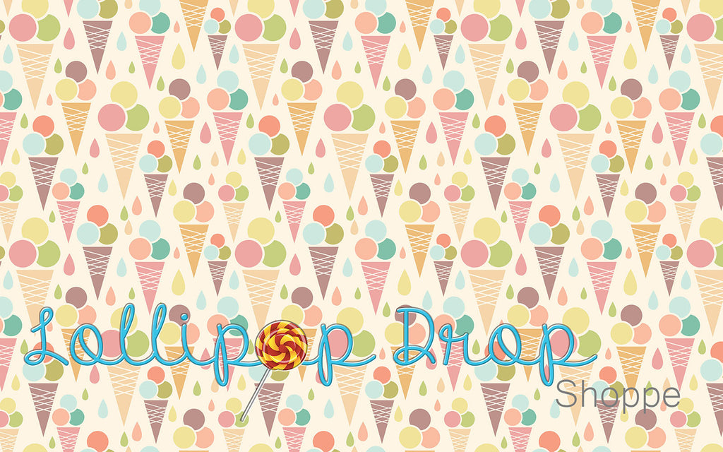 Ice Cream Cones - Backdrop Shop