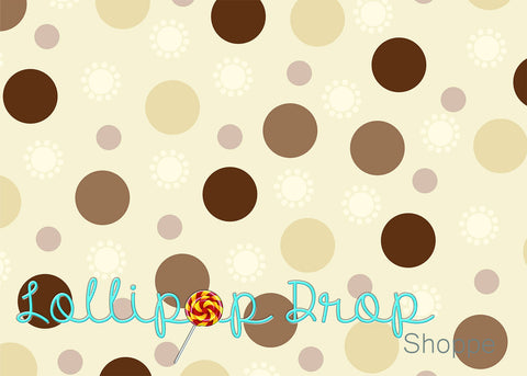 Neutral Polka Dots - Backdrop Shop