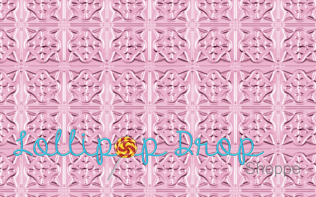 Pink Tin Tiles - Backdrop Shop