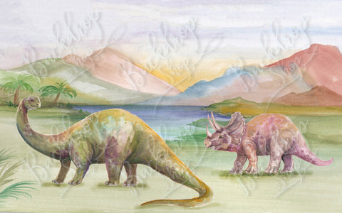 Painted Dinos - Backdrop Shop