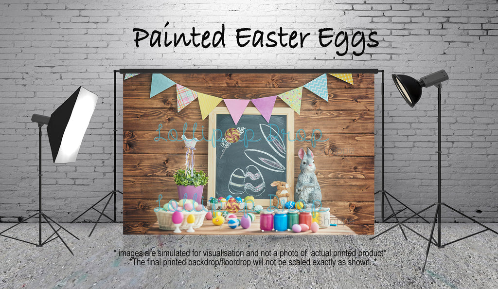 Painted Easter Eggs - Backdrop Shop