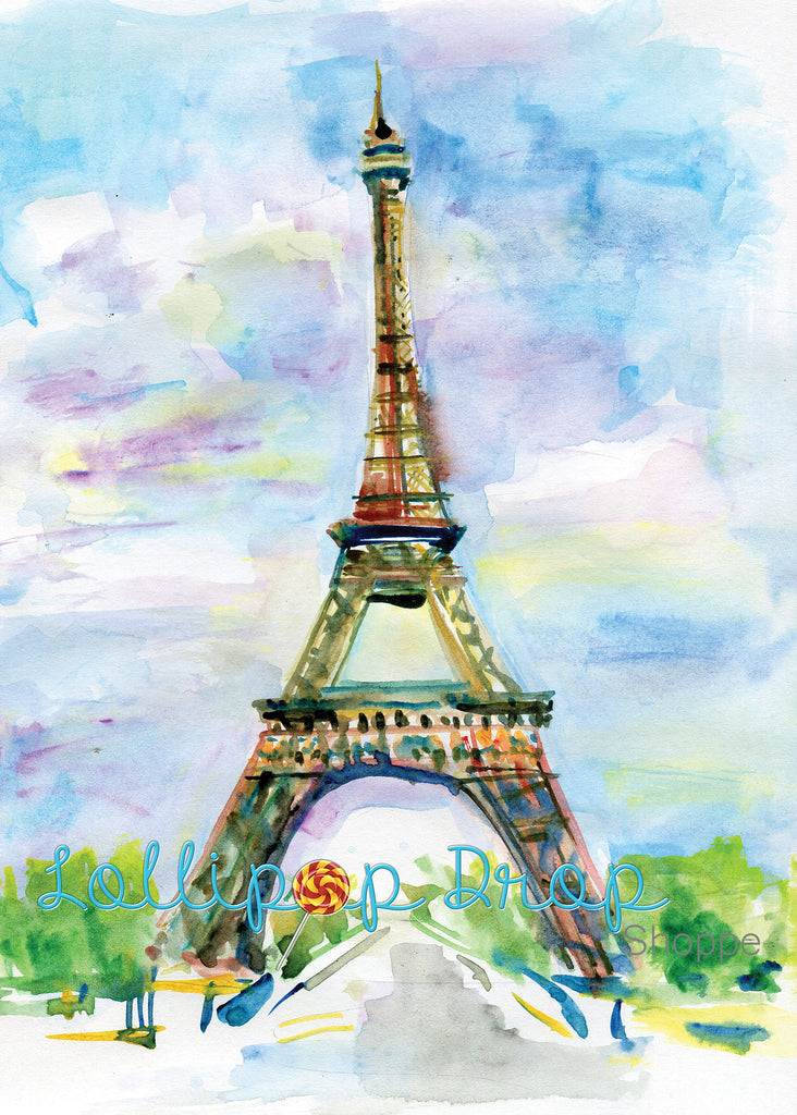Painted Eiffel Tower - Backdrop Shop