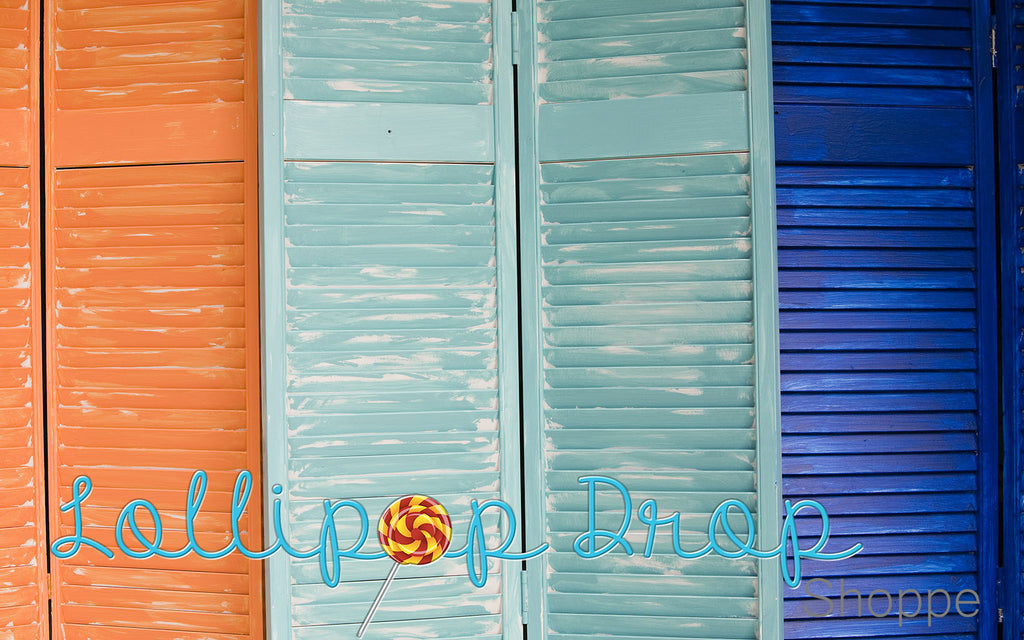 Painted Shutters - Backdrop Shop