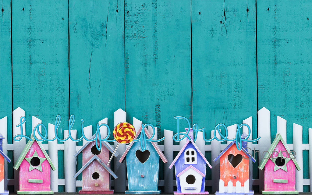 Pastel Birdhouses - Backdrop Shop