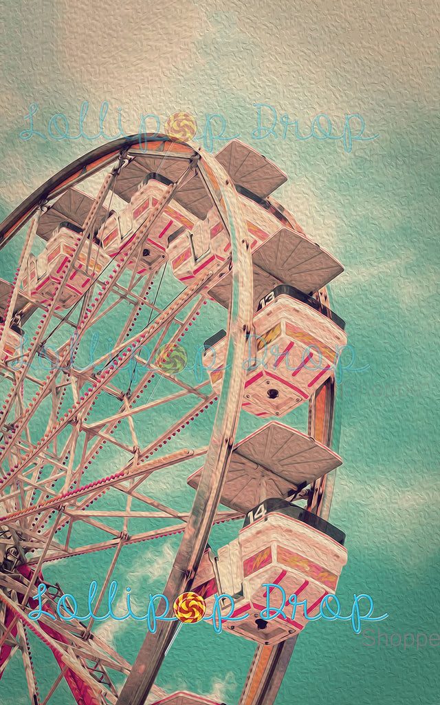 Pastel Ferris Wheel - Backdrop Shop
