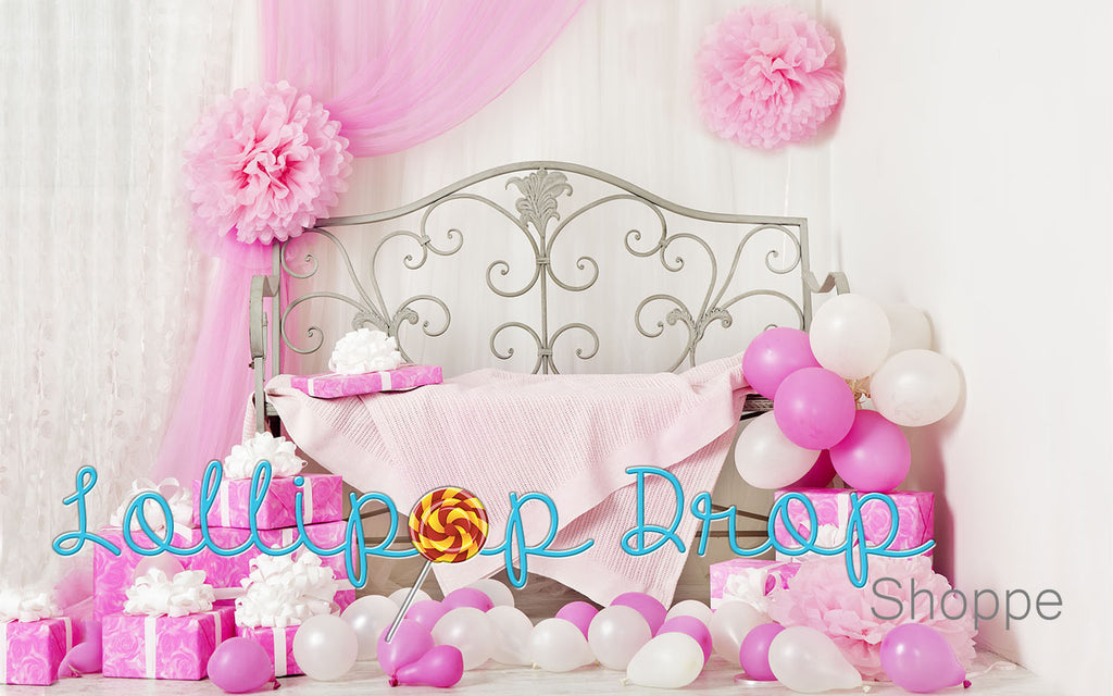 Pink Birthday Galore - Backdrop Shop
