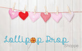 Pink Felt Hearts - Backdrop Shop