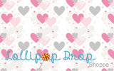 Pink Hanging hearts - Backdrop Shop