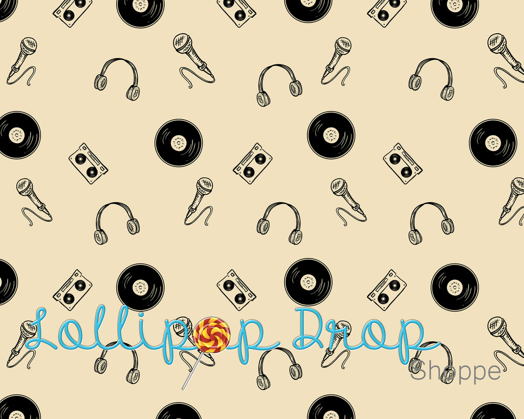Play that music - Backdrop Shop