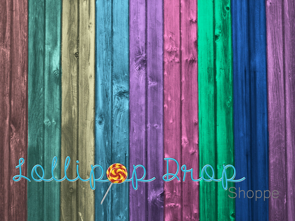 Rainbow Planks - Backdrop Shop