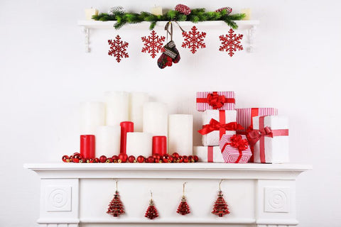 Christmas Fireplace Wall