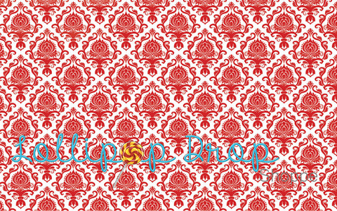 Red Damask - Backdrop Shop