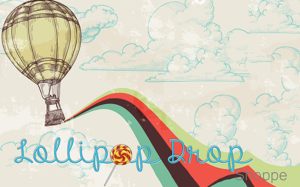 Retro Hot Air Balloon - Backdrop Shop