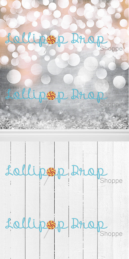 Rose Glitter - White Painted Boards - Backdrop Shop