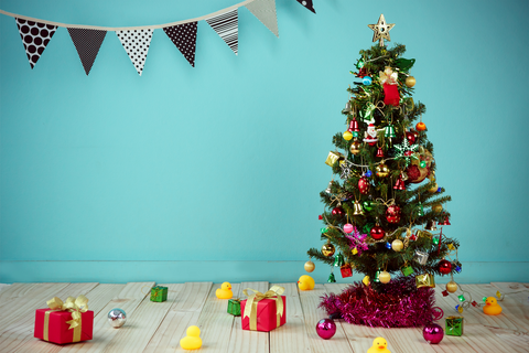 Blue Wall Christmas - Backdrop Shop