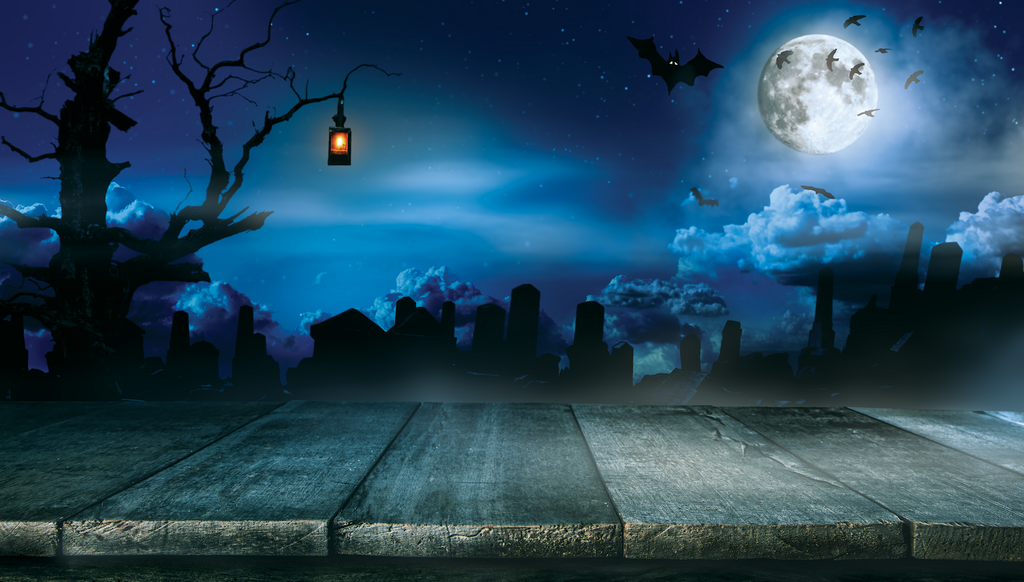 Night Time Graveyard - Backdrop Shop