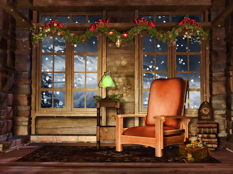 Santa's Chair - Backdrop Shop