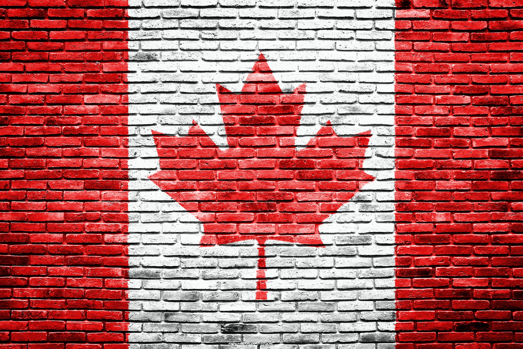 Brick Canada Flag - Backdrop Shop