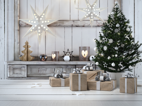 Beautiful Gift With Christmas Ornaments - Backdrop Shop
