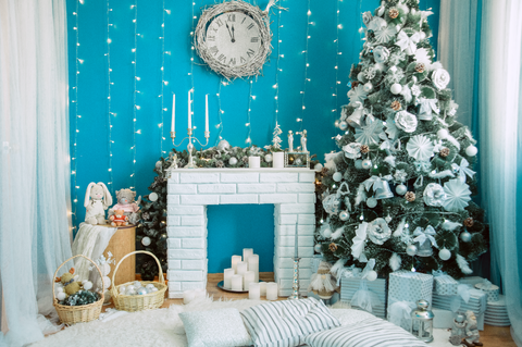 Christmas in Blue - Backdrop Shop