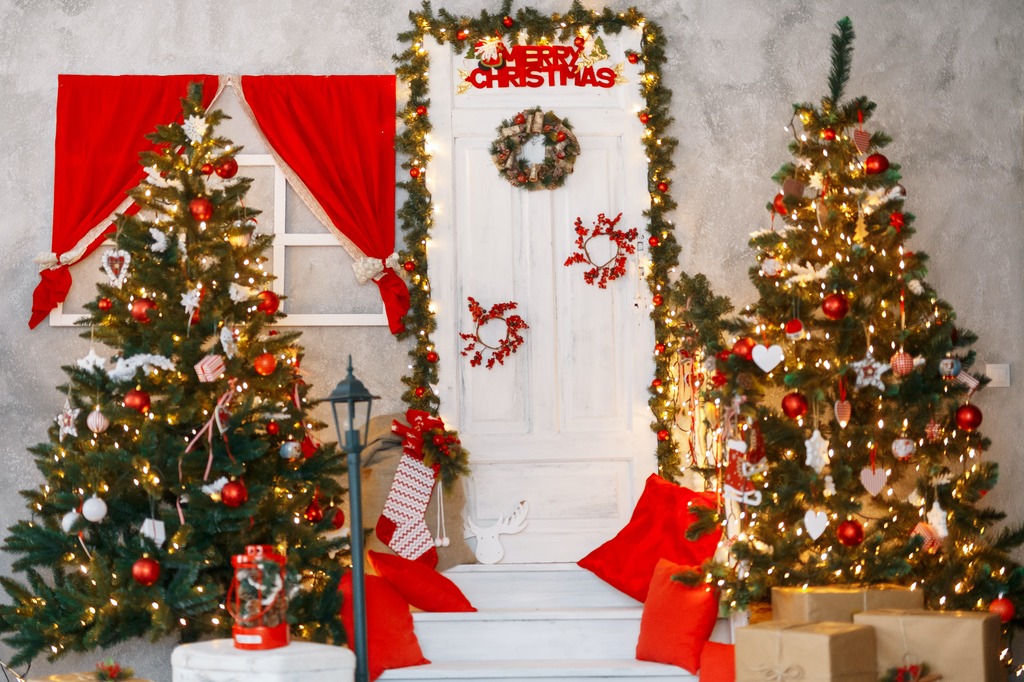 Christmas By The Door - Backdrop Shop