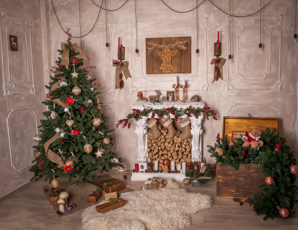 Victorian Style Christmas Room - Backdrop Shop
