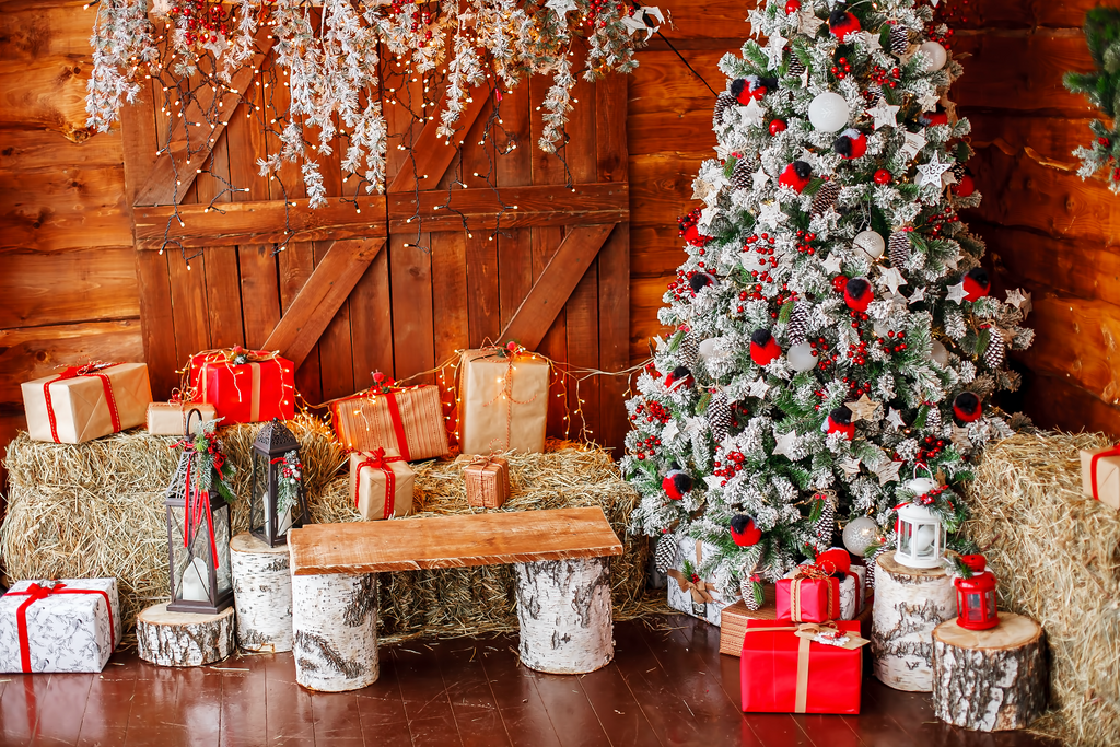 Christmas In The Barn - Backdrop Shop
