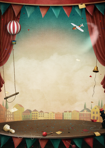 Circus Stage - Backdrop Shop