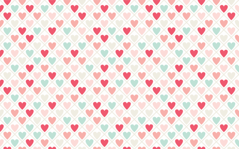 Cute Hearts - Backdrop Shop