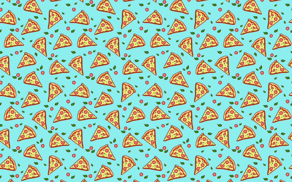 Pizza Party With Blue Background - Backdrop Shop