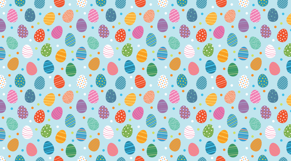 Colourful Easter Eggs - Backdrop Shop