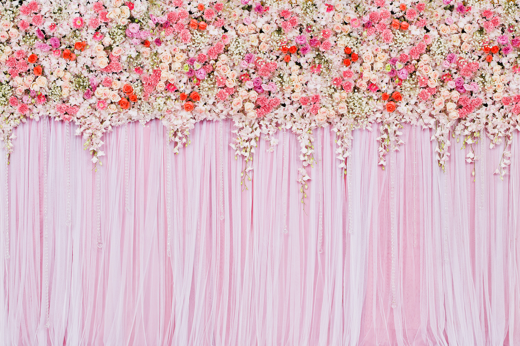 Flowers & Drapes - Backdrop Shop